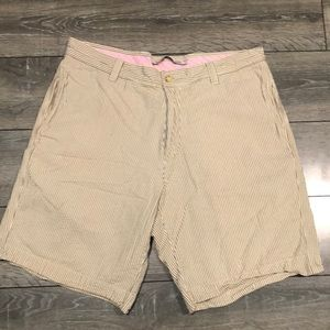 Berle Vintage Striped Washed Stoned & Beaten Short